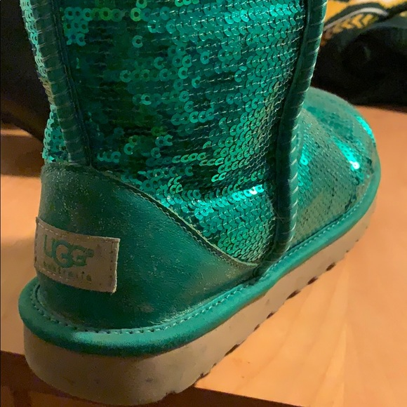 UGG Shoes - Sequin green uggs